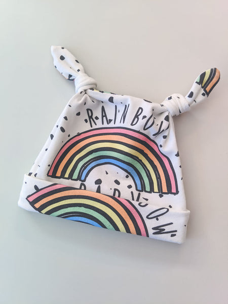 Rainbow Baby Knotted Hat