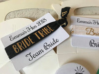 Hen do, Bridal party favours. Hair elastics.