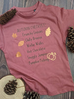 'Autumn Checklist' T-shirt