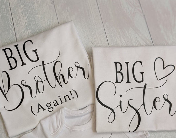 I'm Going To Be A Big Sister/Brother Tshirt