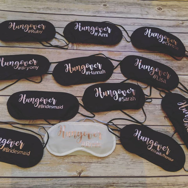 Eye masks- Hungover!