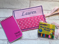 Personalised crayon roll