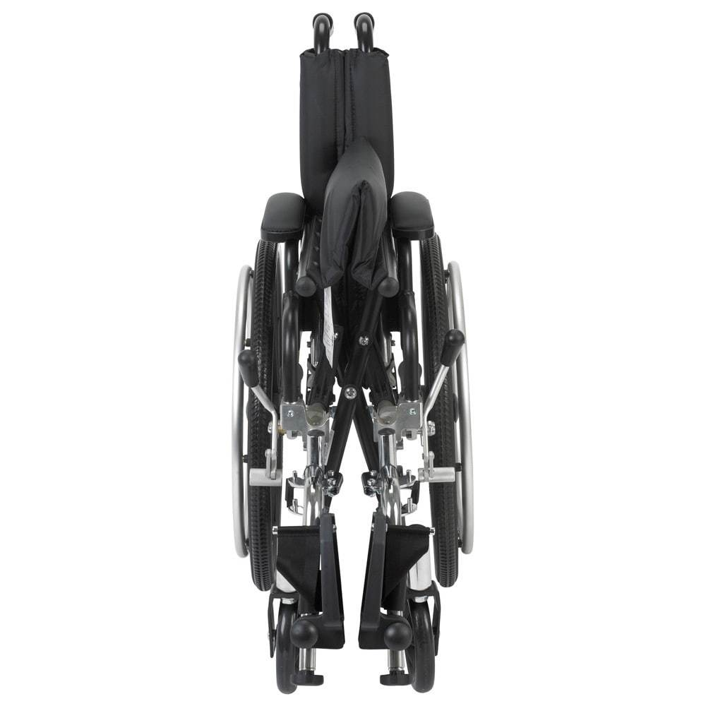"Viper Wheelchair With Flip Back Removable Desk Arms And Front Rigging Options - 14"" Seat With Elevating Leg Rests"