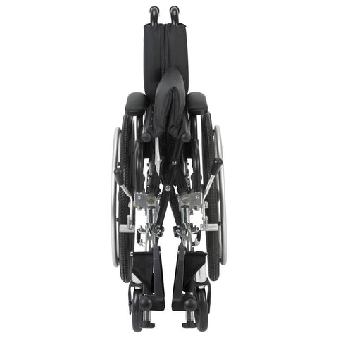 "Image of Viper Wheelchair With Flip Back Removable Desk Arms And Front Rigging Options - 14"" Seat With Elevating Leg Rests"
