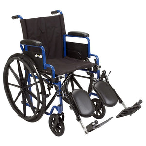 Drive Blue Streak Wheelchair With Flip Back Desk Arms - Black Elevating - 18