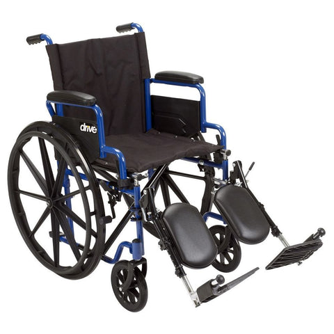 Image of Drive Blue Streak Wheelchair With Flip Back Desk Arms - Black Elevating - 18