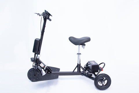 Image of Glion SNAPnGO 325 Three Wheel Electric Travel Mobility Scooter With Deluxe Seat (Optional Travel Seat Available...)