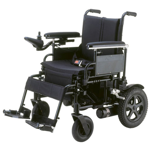 Image of Cirrus Plus Folding Power Wheelchair With Footrest And Batteries - Black / 22