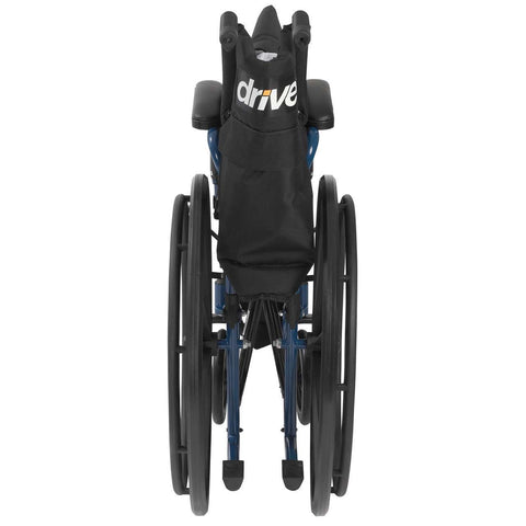 Image of Drive Blue Streak Wheelchair With Flip Back Desk Arms - Black Swing - 18