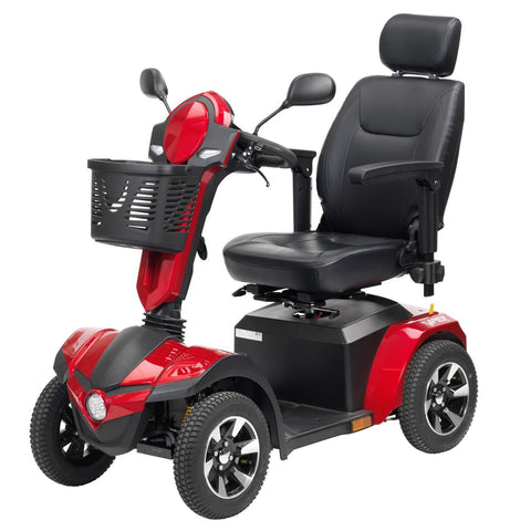 Image of Drive Panther 4-Wheel Heavy Duty Power Mobility Scooter - Black/Red