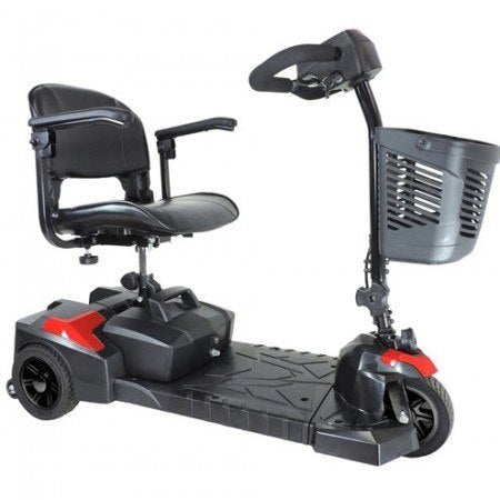 Image of Drive Scout 3-Wheel Travel Power Mobility Scooter - Red