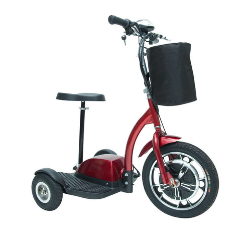 Image of Drive ZooMe 3-Wheel Recreational Power Scooter - Red