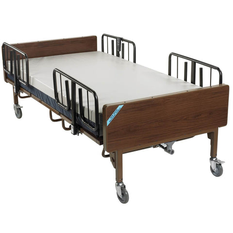 Image of Drive Full Electric Bariatric Hospital Bed - Bed Frame With T Rails And Mattress