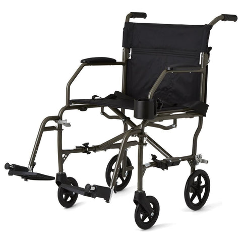 Medline Super Lightweight Transport Chair - Silver