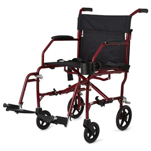 Medline Super Lightweight Transport Chair - Red