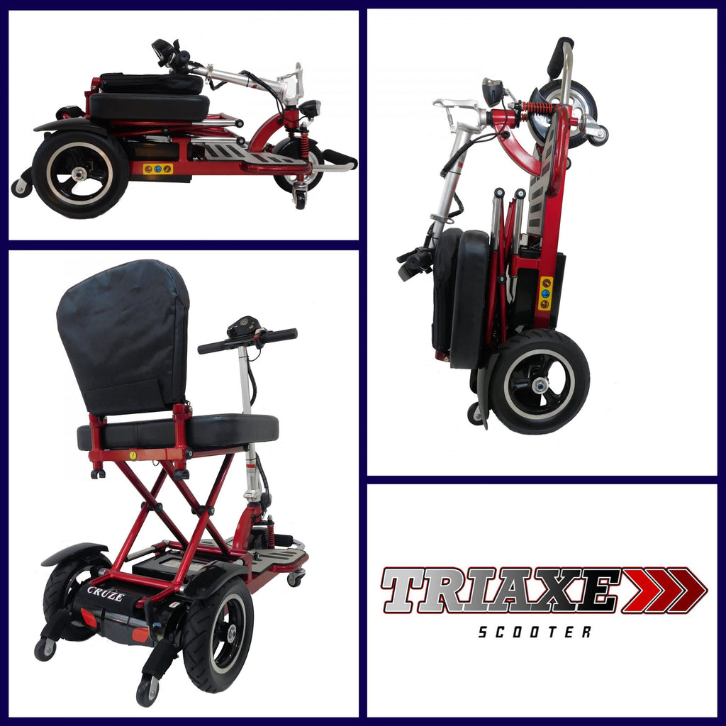 Triaxe Cruze Folding Mobility Scooter - Get Free Deluxe Basket