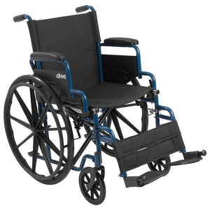 Drive Blue Streak Wheelchair With Flip Back Desk Arms - Black Swing - 18