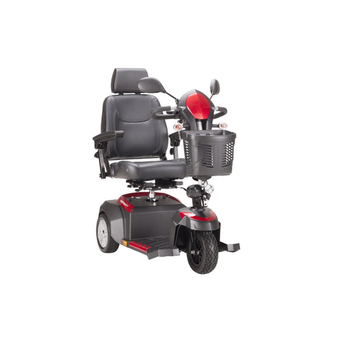 Drive Ventura 3-Wheel Mid-Size Power Mobility Scooter - 20 - Inch Captains Seat - Red & Blue