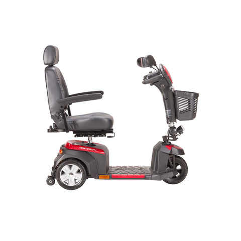 Image of Drive Ventura 3-Wheel Mid-Size Power Mobility Scooter - 20 - Inch Captains Seat - Red & Blue