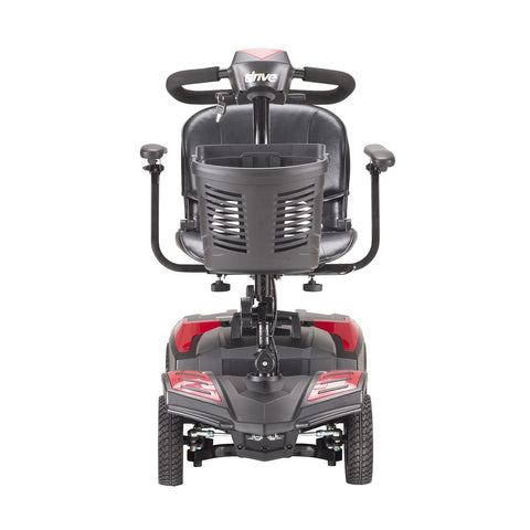 Image of Drive Scout Compact 4-Wheel Travel Power Mobility Scooter - Red