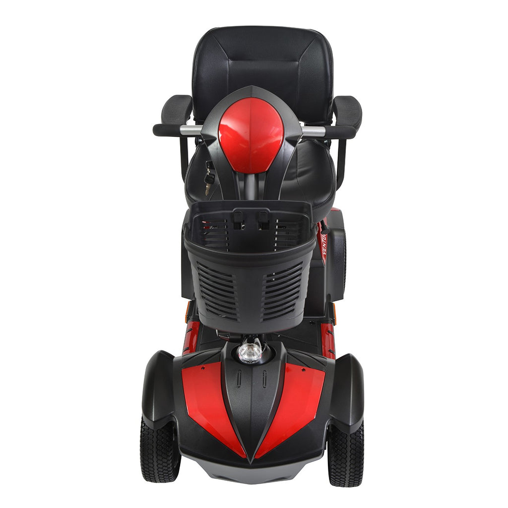 Drive Ventura 4-Wheel Mid-Size Power Mobility Scooter - 18 - Inch Captains Seat - Red & Blue