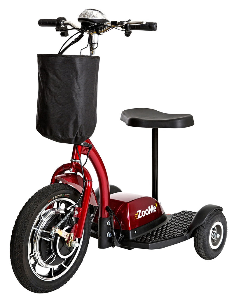 Drive ZooMe 3-Wheel Recreational Power Scooter - Red