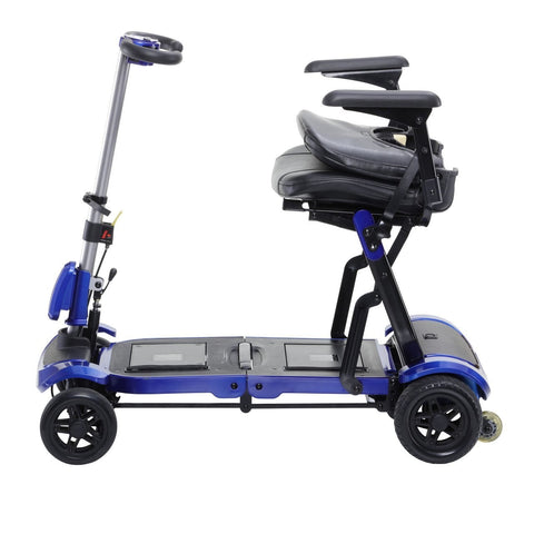 Drive ZooMe Flex Ultra Compact Folding 4-Wheel Travel Scooter - Blue