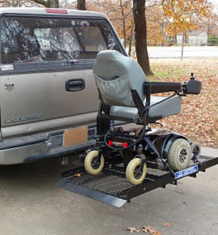 "Image of Mobility Scooter/Power Wheelchair Auto Fold Up Electric Carrier 32"" X 60"""