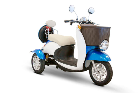 EWheels EW-11 Three Wheel Euro Style Sport Mobility Scooter - 2 Passenger Scooter - Get $50 In Free Accessories