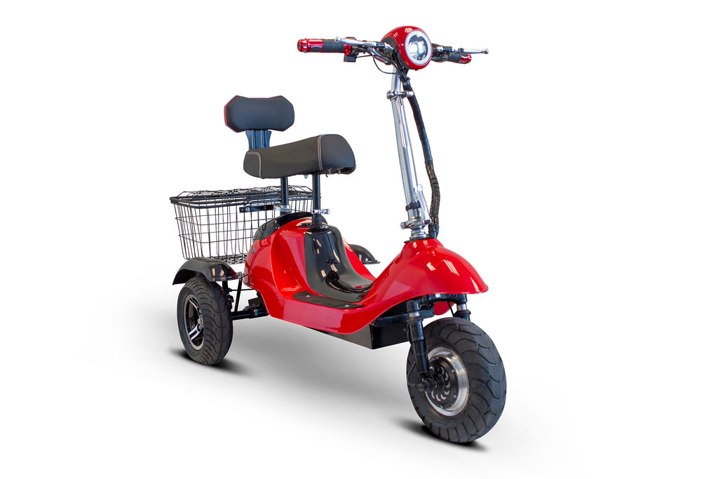 EWheels EW-19 Three Wheel Sporty Mobility Scooter (Upgraded Seat Available) - Get $50 In Free Accessories
