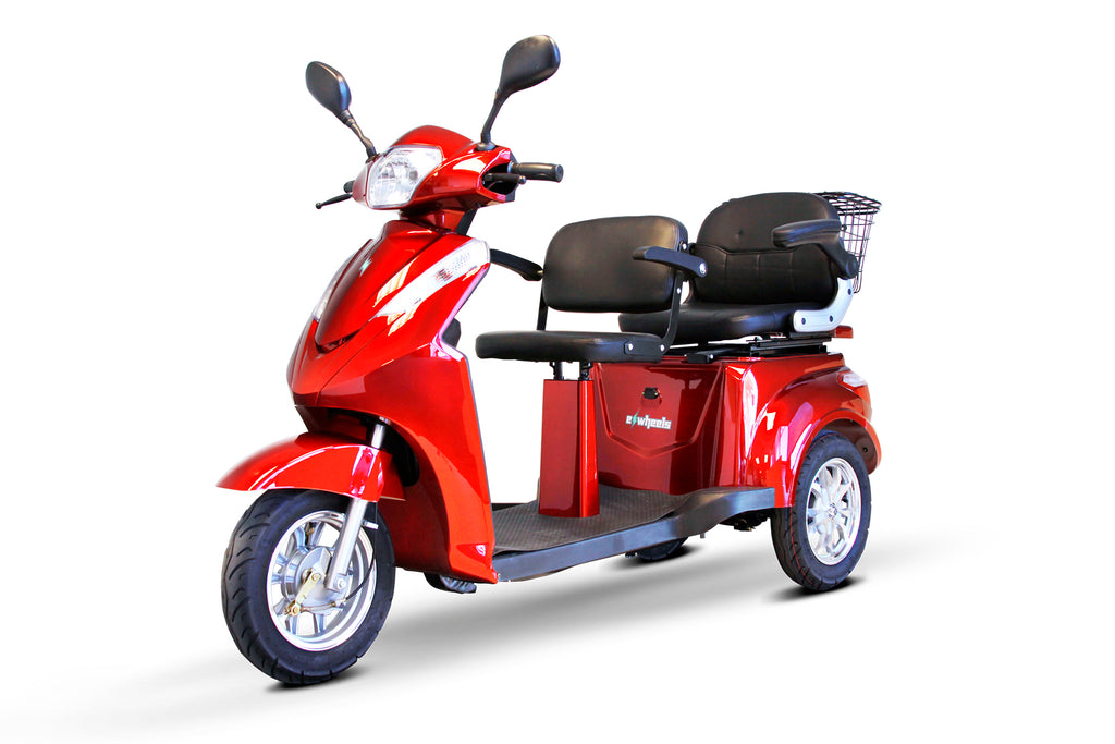EWheels EW-66 Three Wheel Heavy Duty Mobility Scooter - 2 Passenger Scooter - Get $50 In Free Accessories