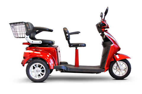 Image of EWheels EW-66 Three Wheel Heavy Duty Mobility Scooter - 2 Passenger Scooter - Get $50 In Free Accessories