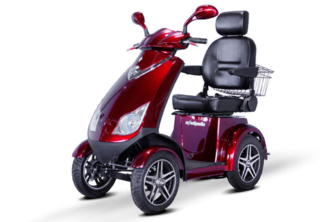EWheels EW-72 Four Wheel Heavy Duty Mobility Scooter (with Electromagnetic Brakes) - Get $50 In Free Accessories