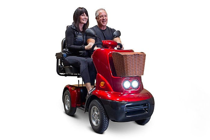EWheels EW-88 Four Wheel Luxury Oversized Dual Seat Scooter - Get $50 In Free Accessories