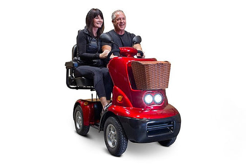 Image of EWheels EW-88 Four Wheel Luxury Oversized Dual Seat Scooter - Get $50 In Free Accessories
