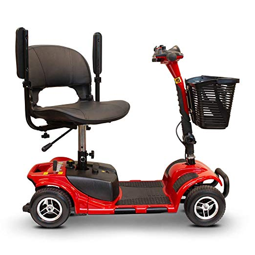 EWheels Medical EW-M34 Four Wheel Portable Travel Mobility Scooter - Get $50 In Free Accessories