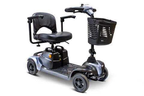 EWheels Medical EW-M39 Four Wheel Portable Travel Mobility Scooter With Luxurious Seat - Get $50 In Free Accessories