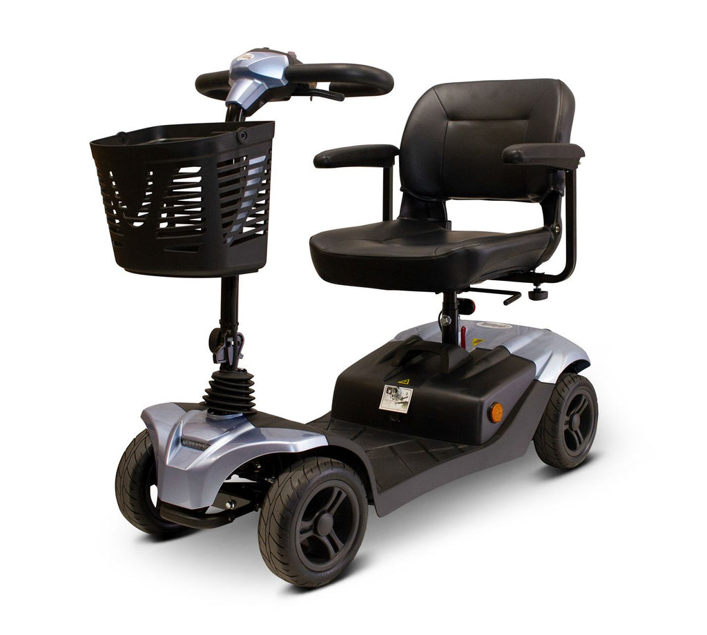EWheels Medical EW-M41 Four Wheel Portable Travel Mobility Scooter With Executive Swivel Seat - Get $50 In Free Accessories