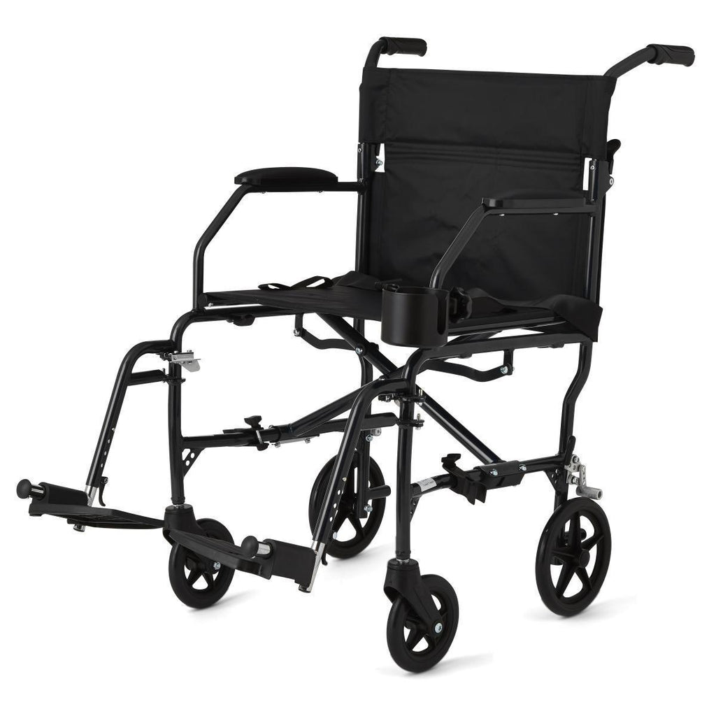 Medline Super Lightweight Transport Chair - Black