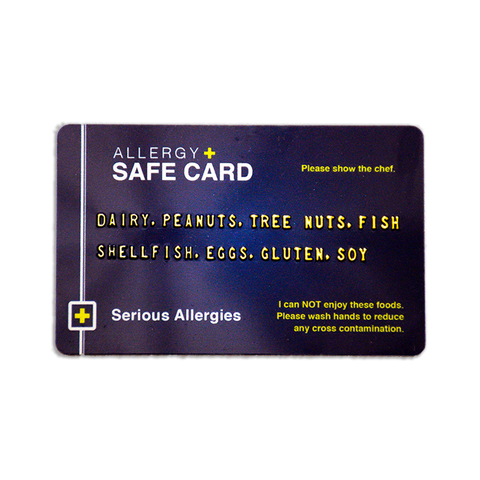 This is an single allergy safe card product picture