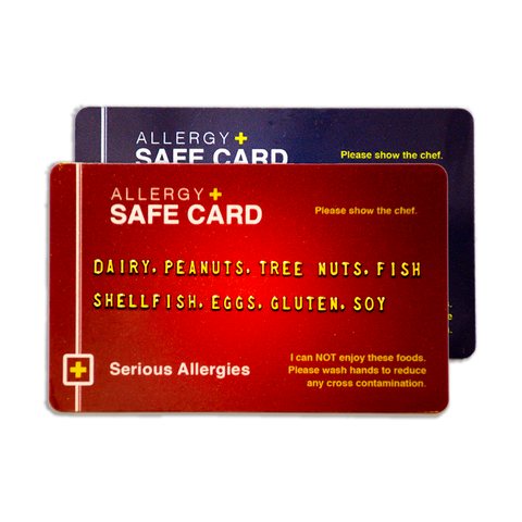 Allergy Safe Card - Color Combo