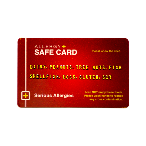 Allergy Safe Card - Red