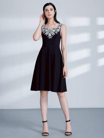Alisa Pan Black and White A Line Party Dress