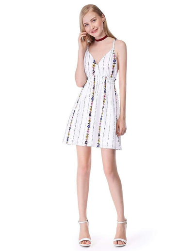 Alisa Pan V Neck Printed Summer Sun Dress