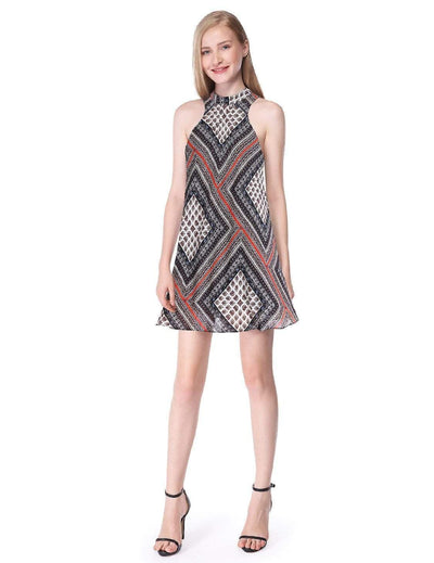 Alisa Pan Printed Sleeveless Shift Dress