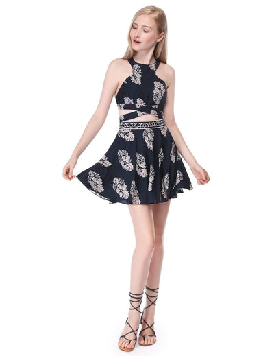 Alisa Pan Printed Crop Top and Skirt Set
