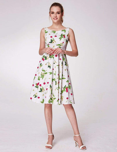 Alisa Pan Sleeveless Cherry Print A Line Dress