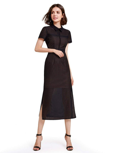 Alisa Pan Tea Length Business Casual Dress