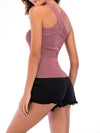 Sexy Cross Neck Knitted Sleeveless Summer Top For Women-Purple 2