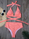 Women'S Colorful Printed Beach Wear Summer Swimsuit-Orange 1